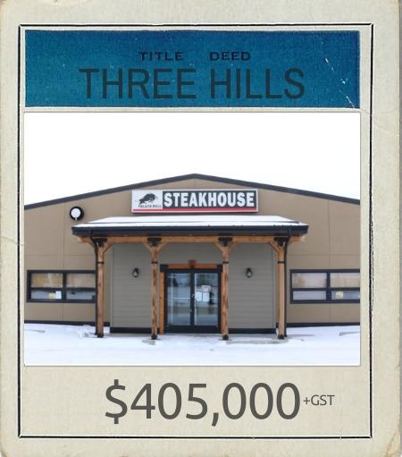HB 2020 Title Deed Three Hills Restaurant